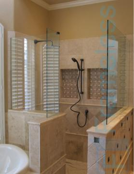 85 Custom Frameless Glass Enclosure Shower Door Installation CSD 1