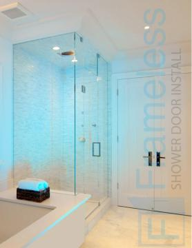 85 Custom Frameless Glass Enclosure Shower Door Installation CSD 3