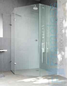 86 Custom Frameless Glass Enclosure Shower Door Installation Glass Enclosures 1